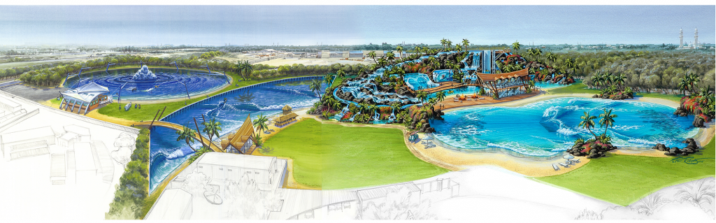 Al Man Dubai wave pool plan