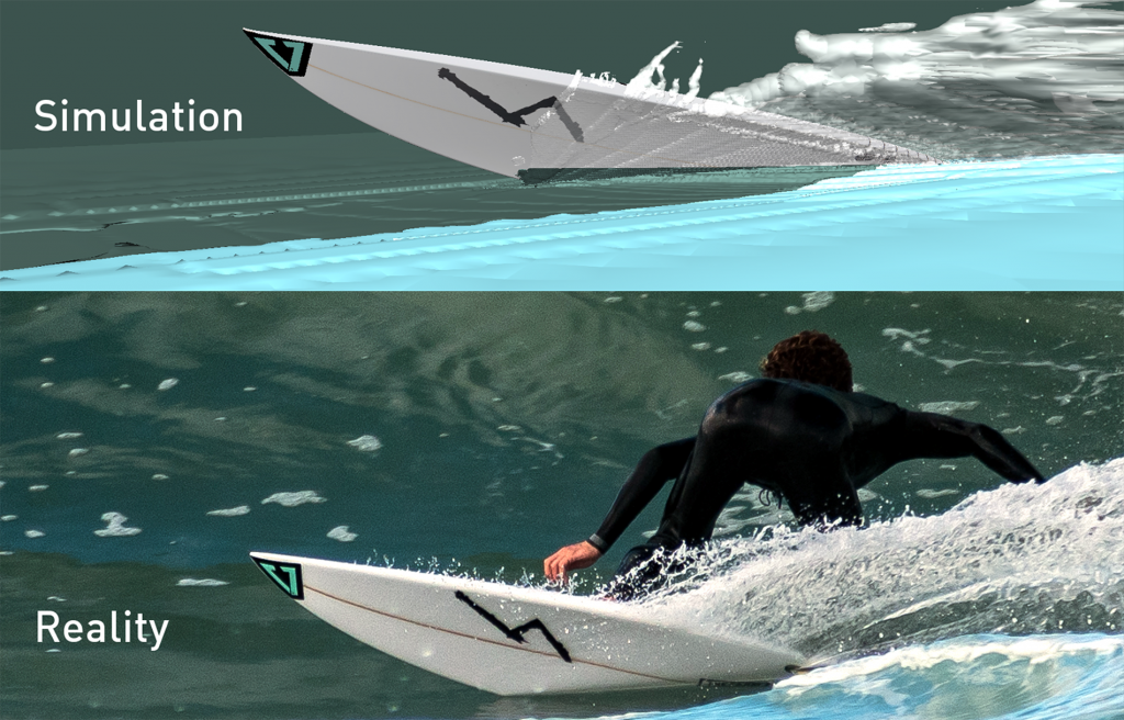 comparing computational fluid dynamics in a surfboard