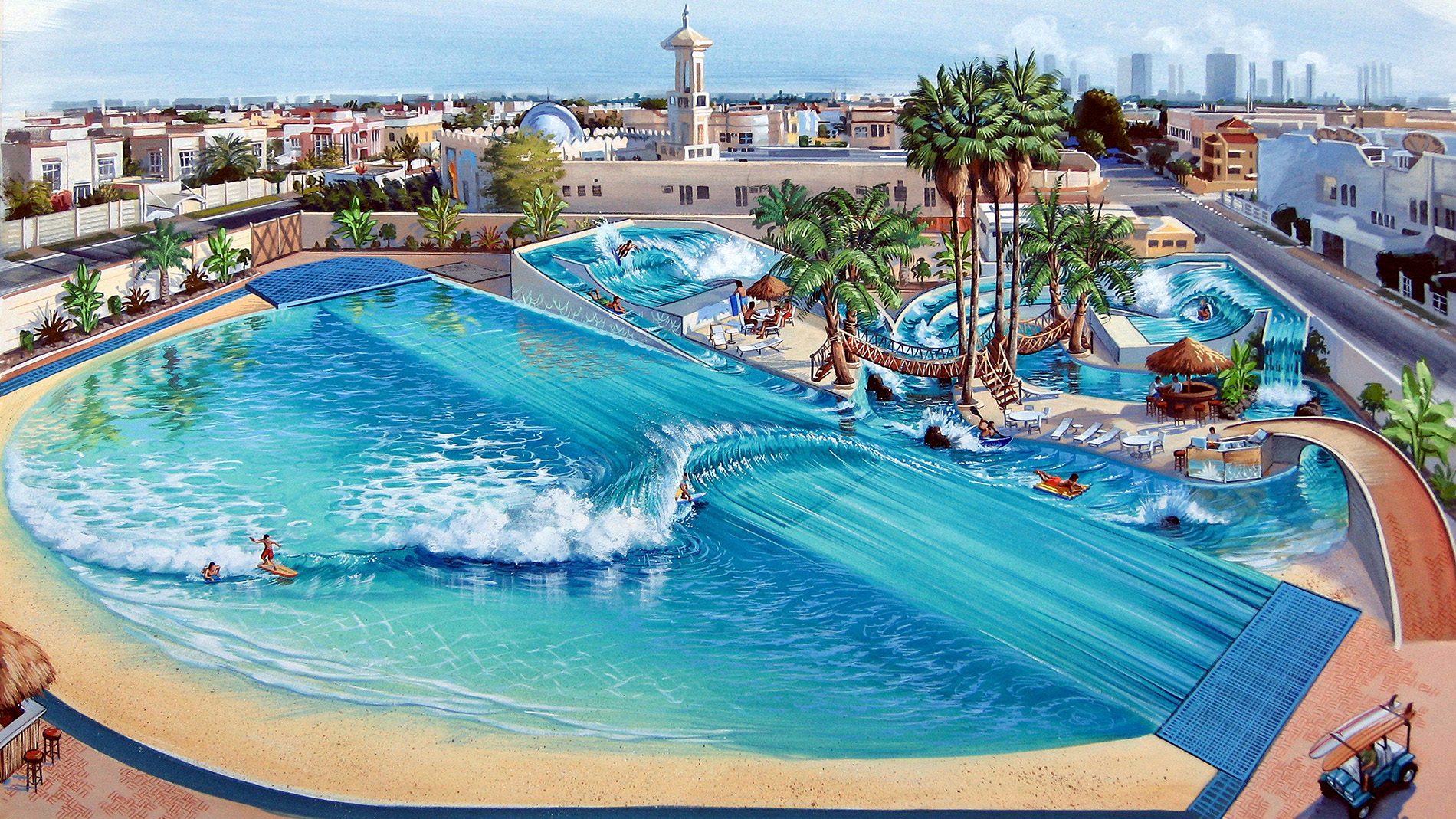 wave pool art by phil roberts