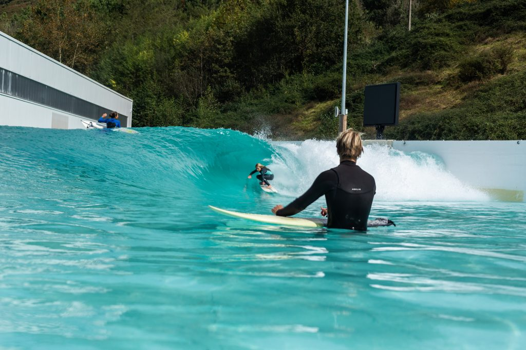Sierra and Josh Kerr at Wavegarden Cove