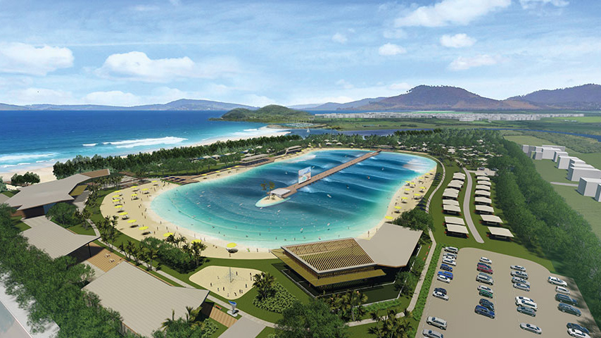 The proposed wave pool design in Cairns