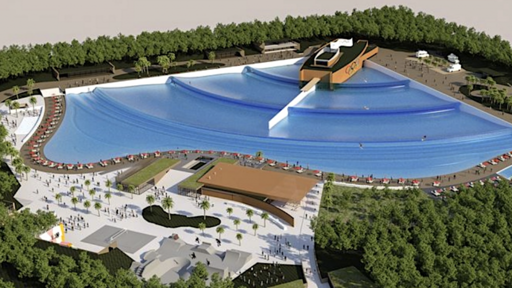 wave pool plan for Castets
