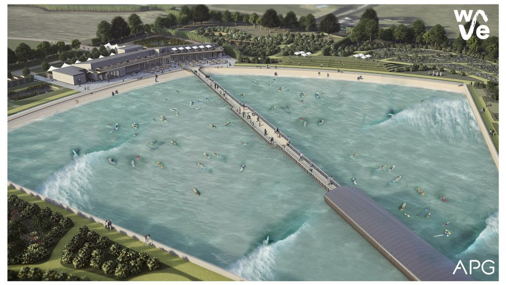 artist rendering of The Wave