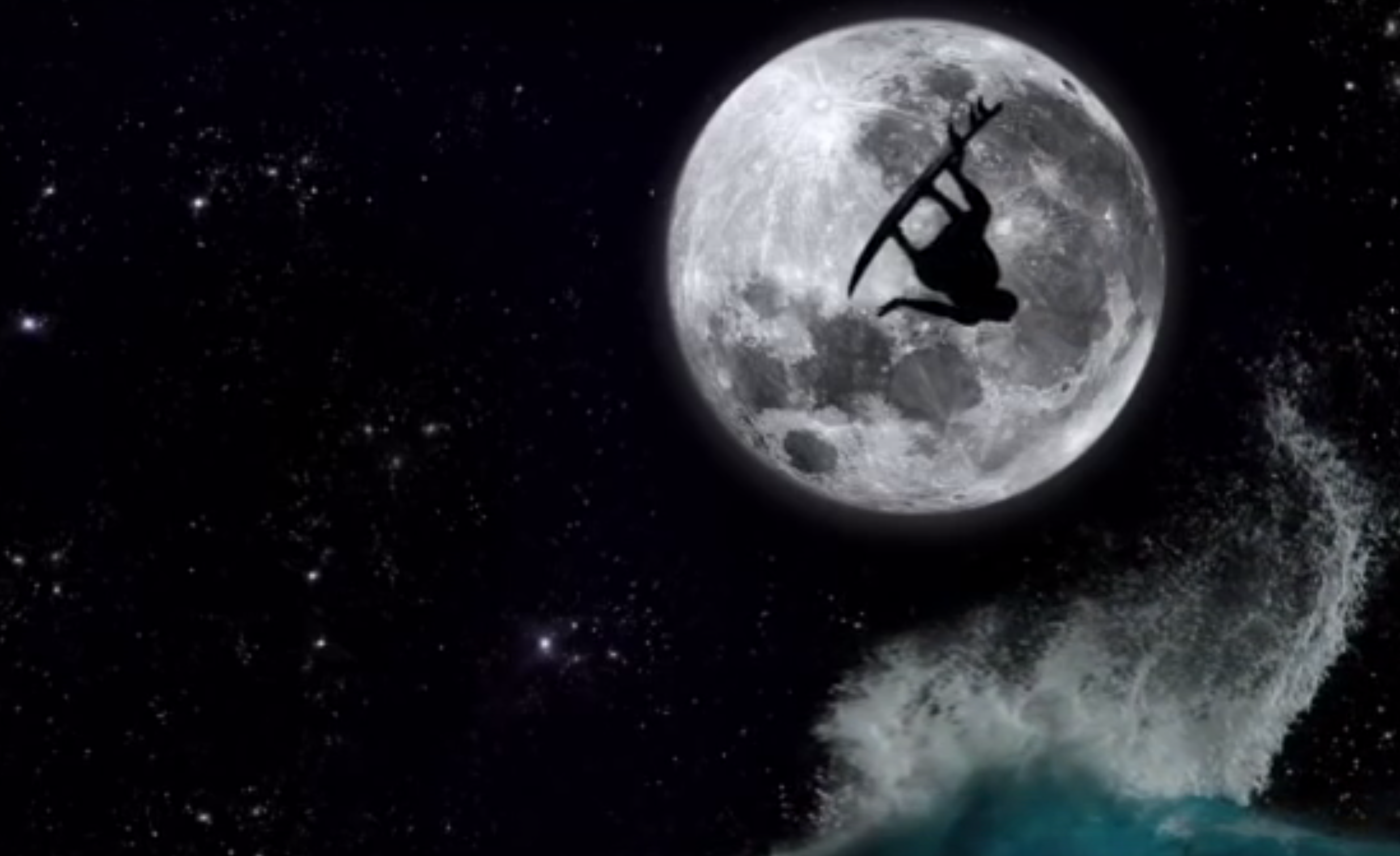night surfing fullmoon