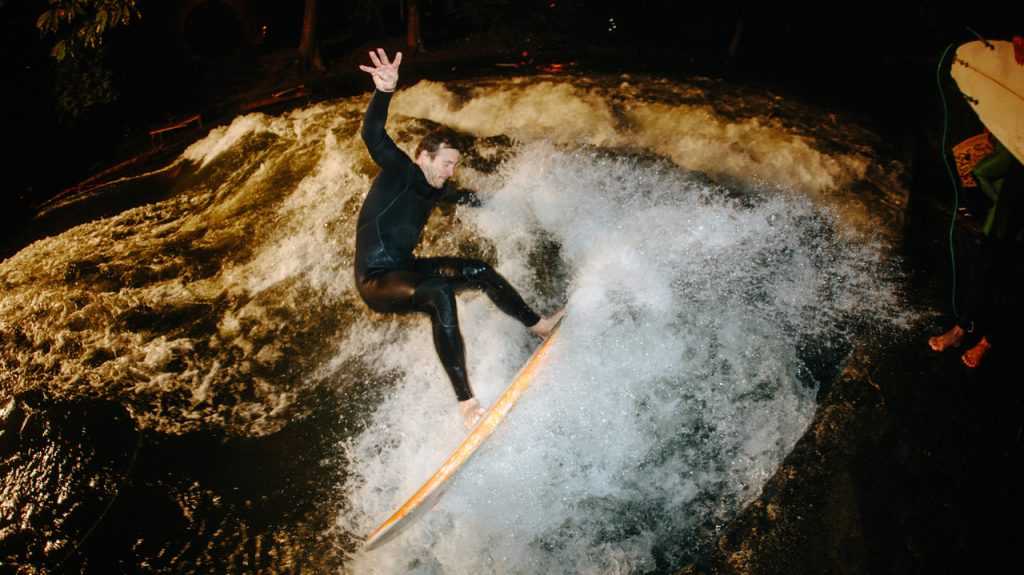 Quirin Rohleder at the Eisbach by Iker Basterretxea
