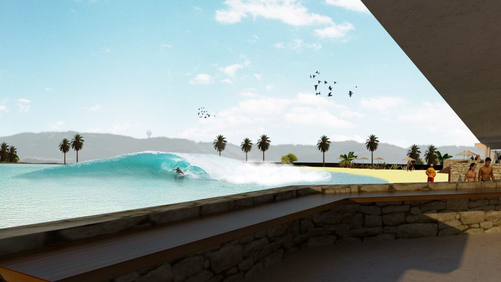 Artist design for new Tunnel Visions Wave Pool