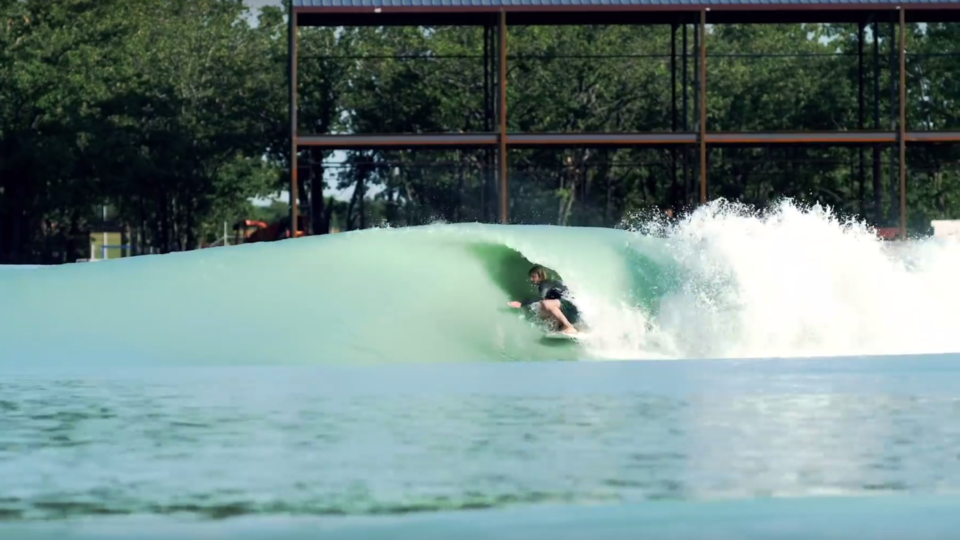 Tyler Warren tubed at the Waco wave pool
