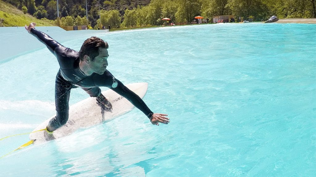 Surfing at wavegarden cove