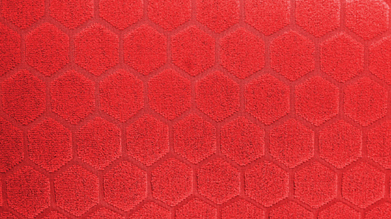 Hexagon pattern of the Body Glove Red Cell wetsuit lining