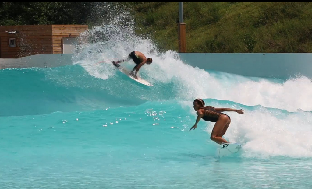 maud and joan at Wavegarden