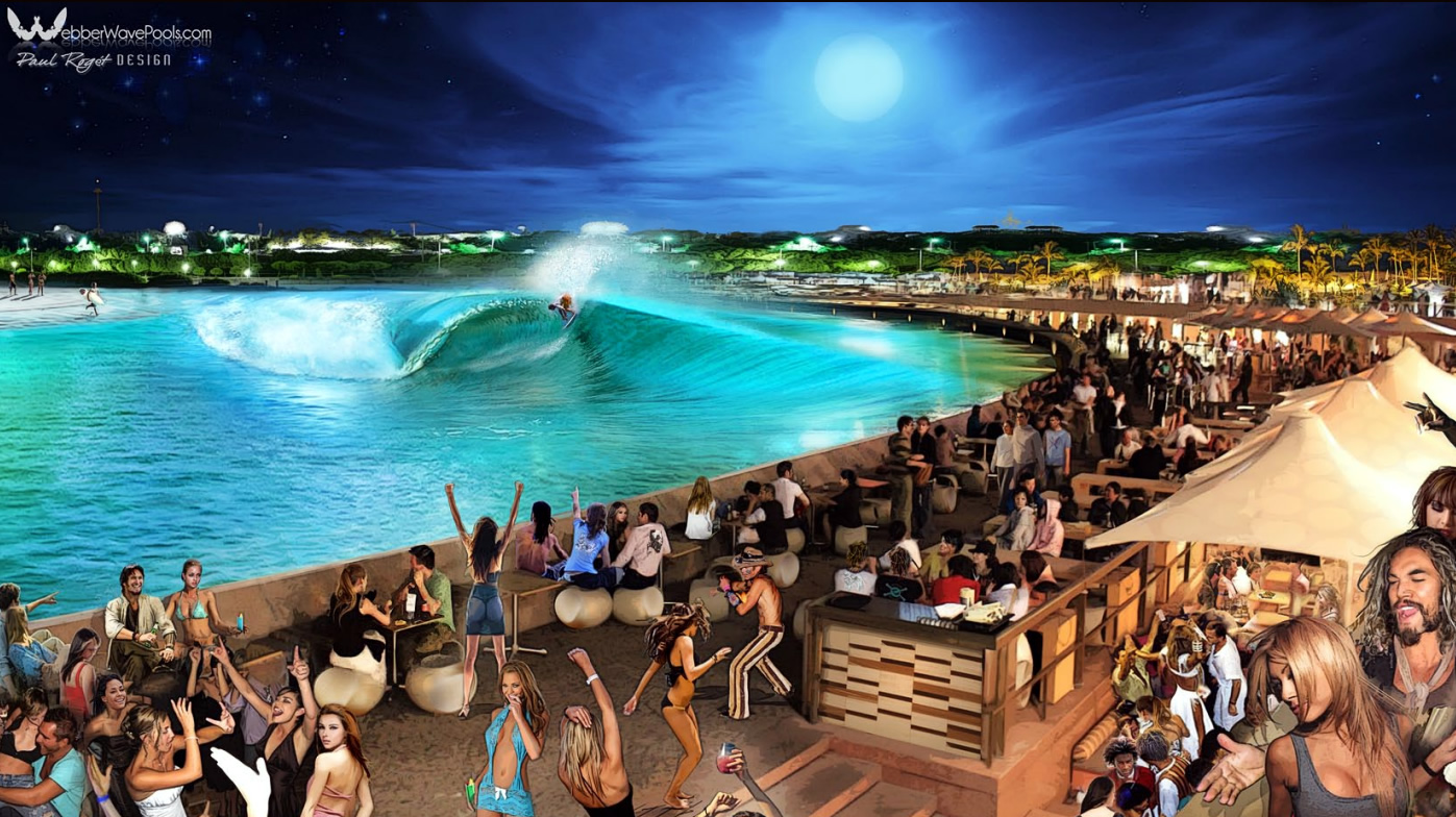 Party at planned wave pool