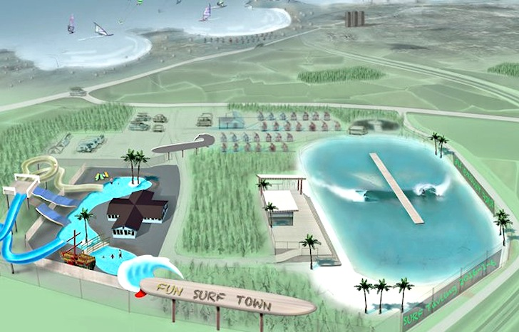 planned fun surf town design