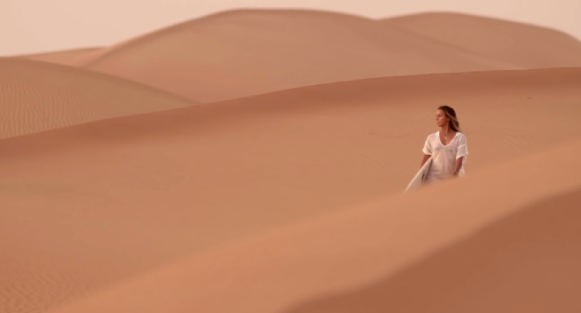 Sally Fitzgibbons in the desert