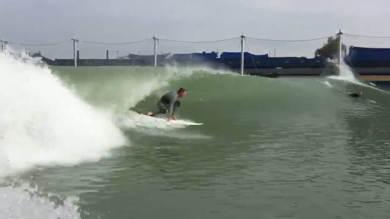 Scott Bass tubed at Kelly's Wave