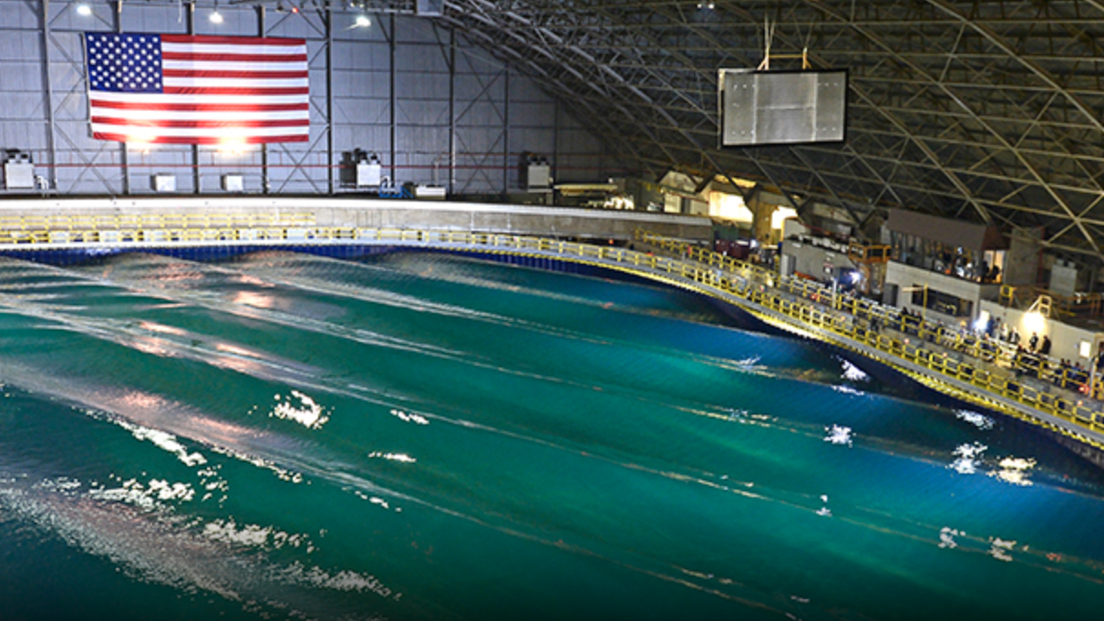 The Navy wavepool at carderock