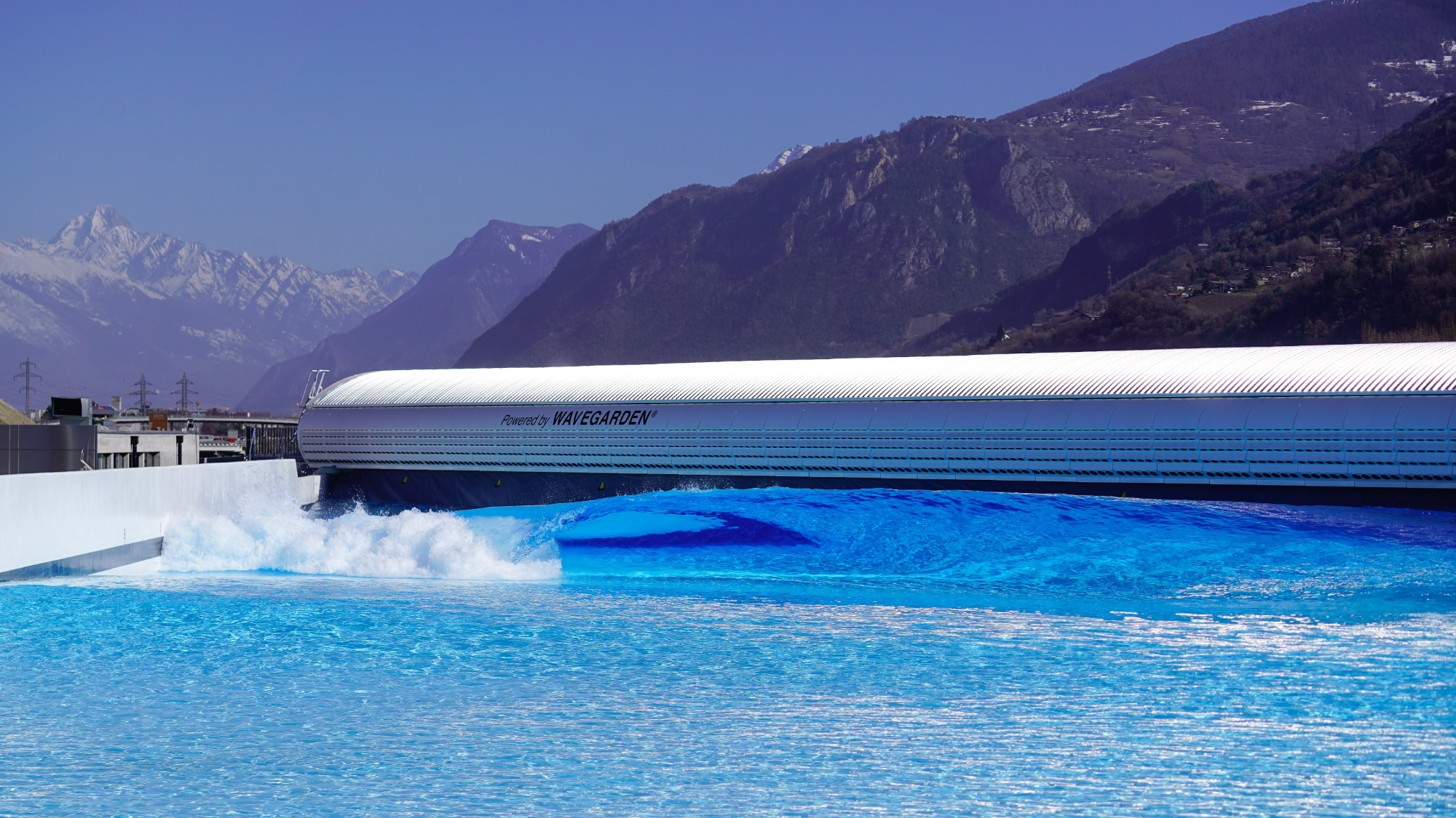 Alaia Bay wave pool in switzerland