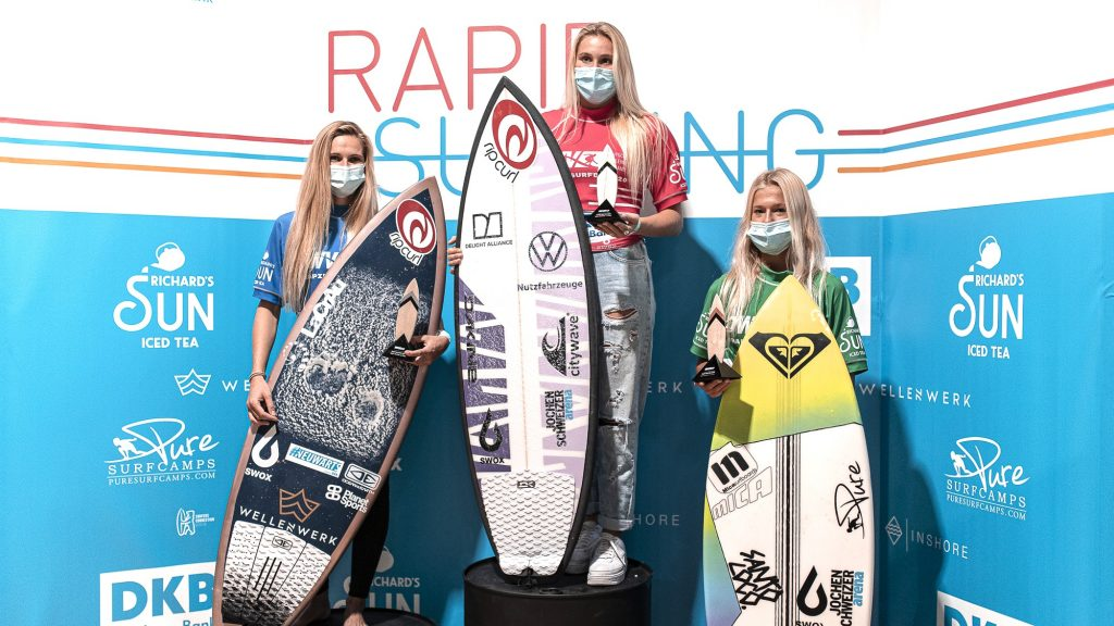 Women's podium from the German Standing Wave Championships