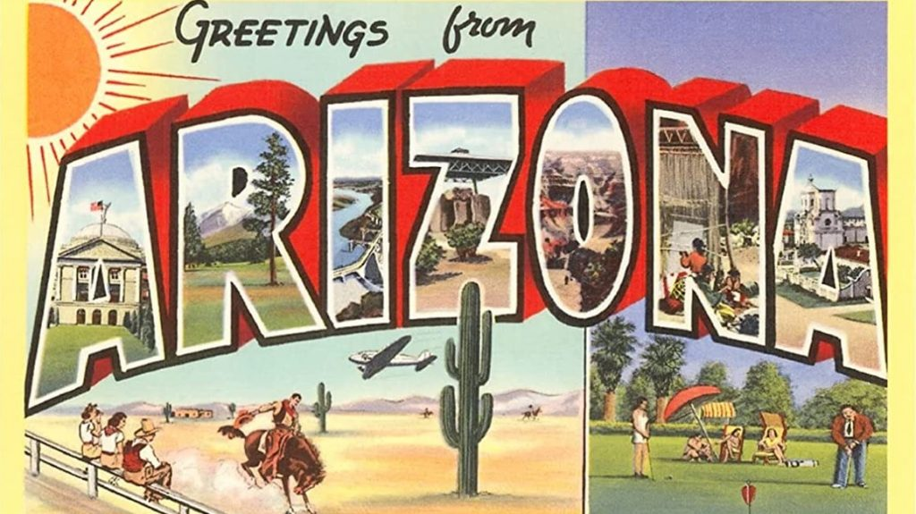 vintage arizona post card doesn't show a wave pool