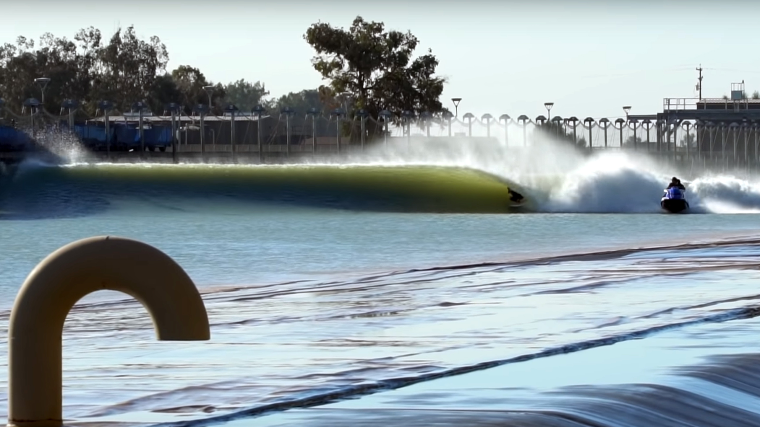 BenGravy surfing at the kelly slater wave pool