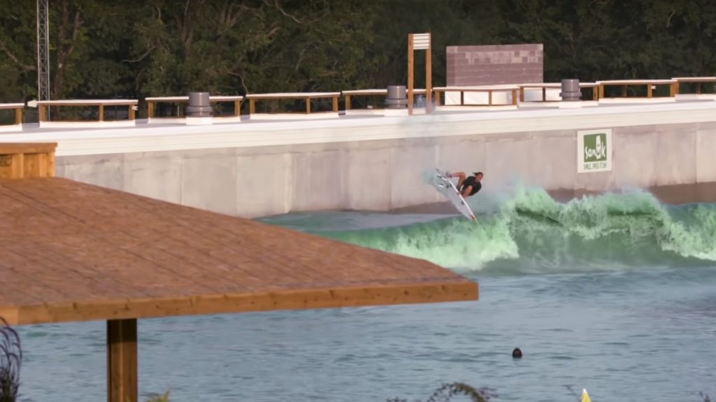 Waco wave pool with Carissa Moore boosting