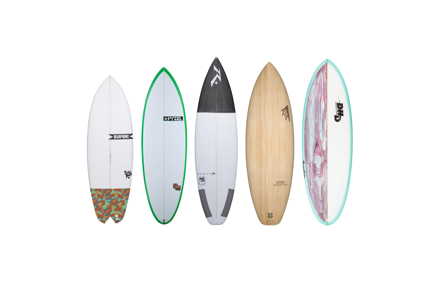 Intermediate surfboard templates