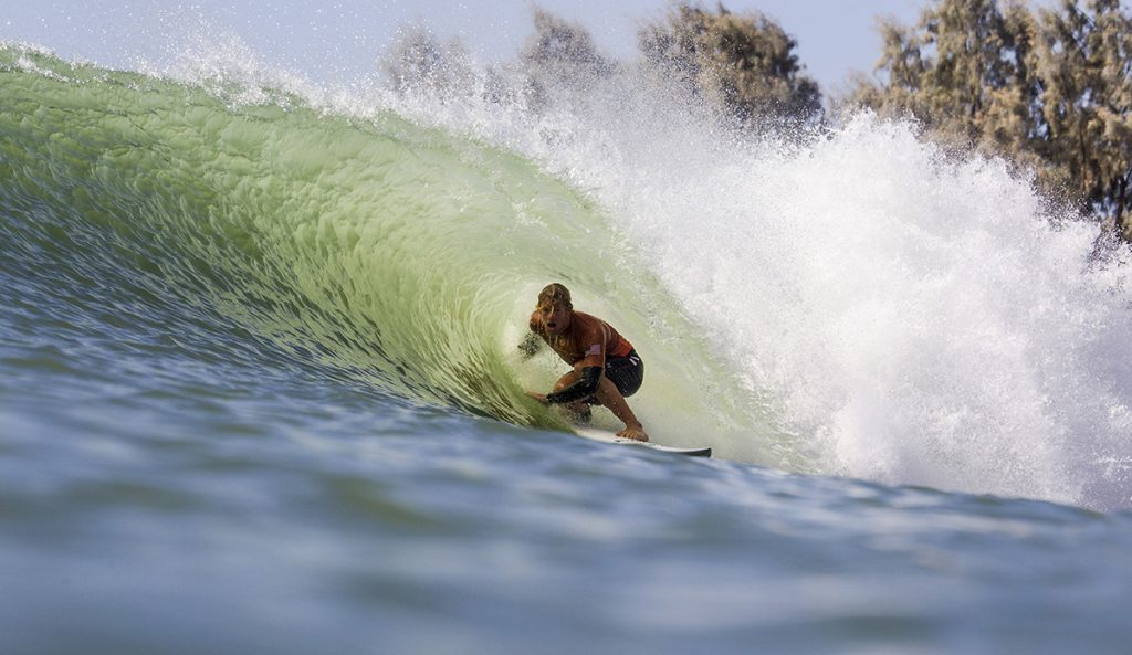 John John Florence at the Kelly Slater Wave Company