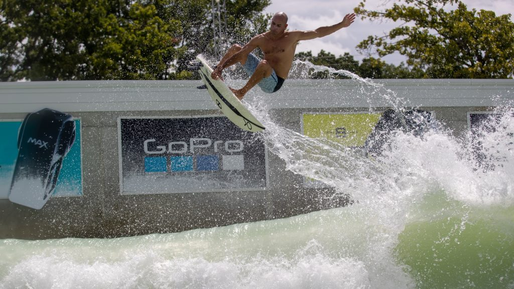 kelly slater surfing in texas