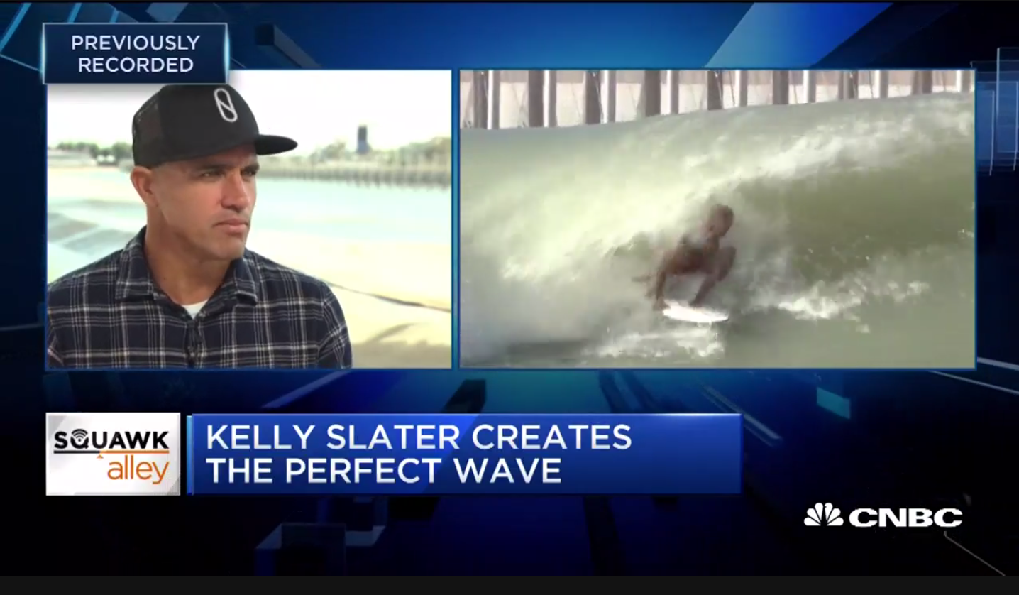 Kelly Slater talks about in stadium surfing