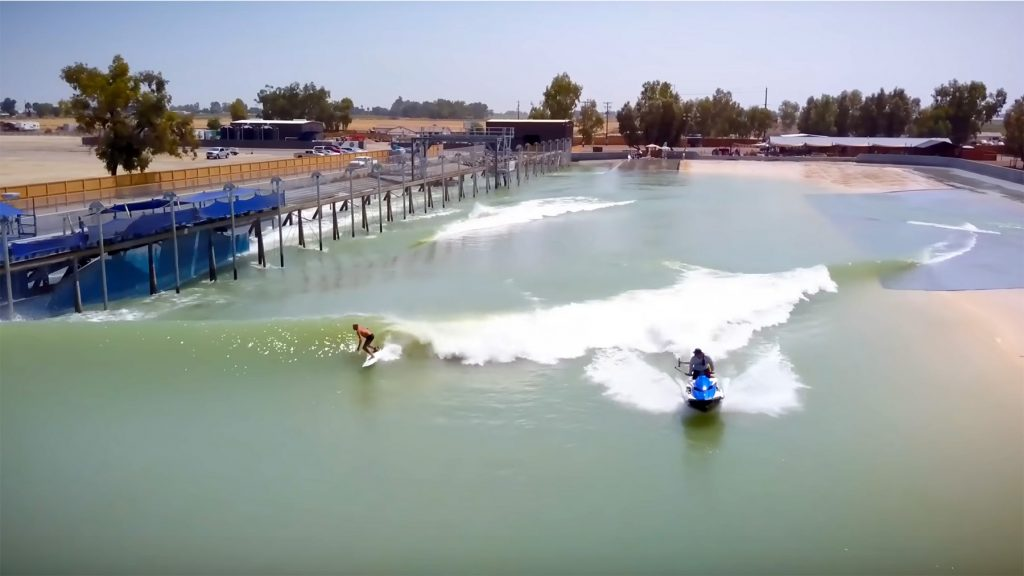 Kelly Slater at his wave pool