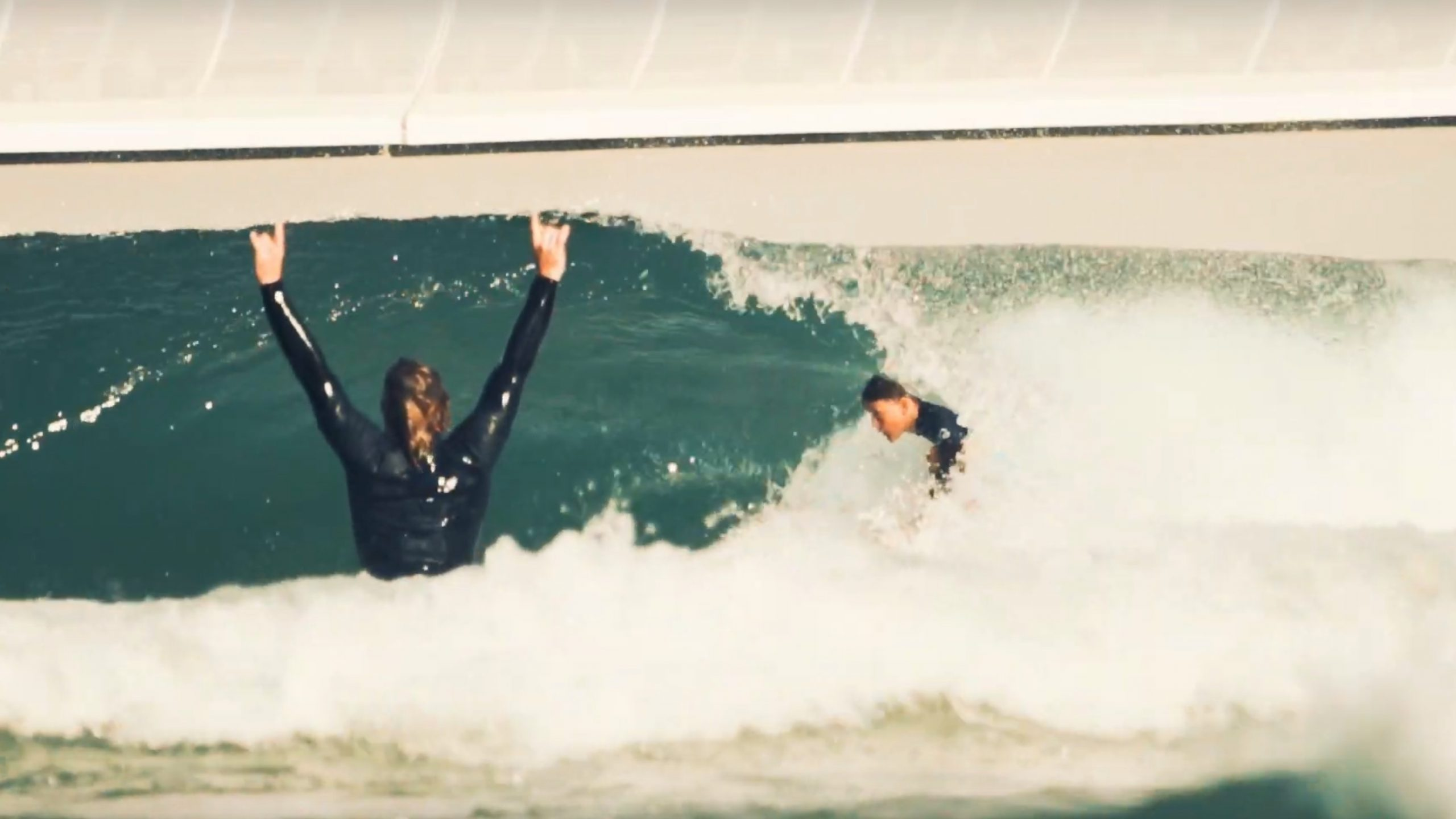 lukas skinner surfs a wave pool