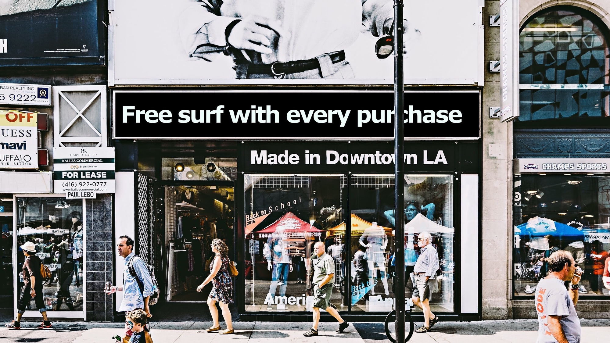 Free surf with every purchase
