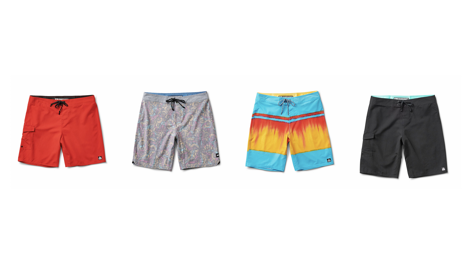 Four pairs of boardshorts
