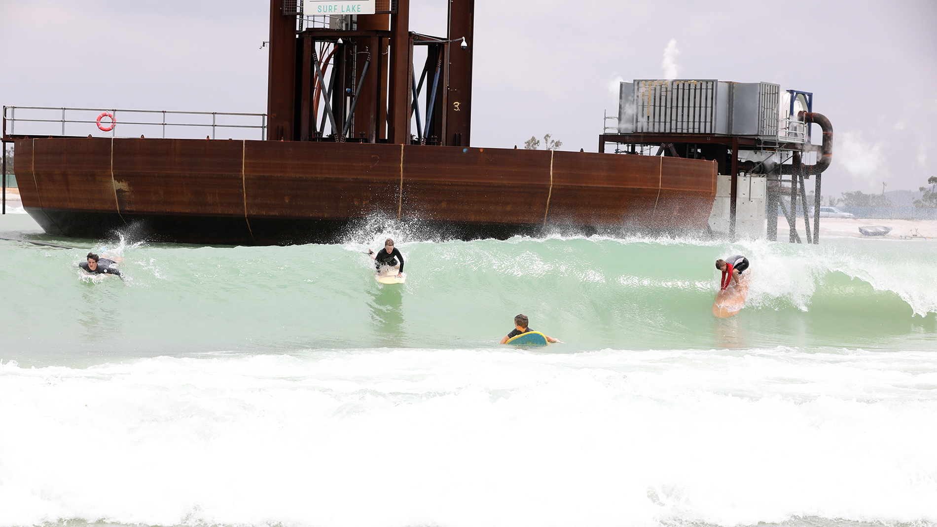 Groms at Surf Lakes in Yeppoon