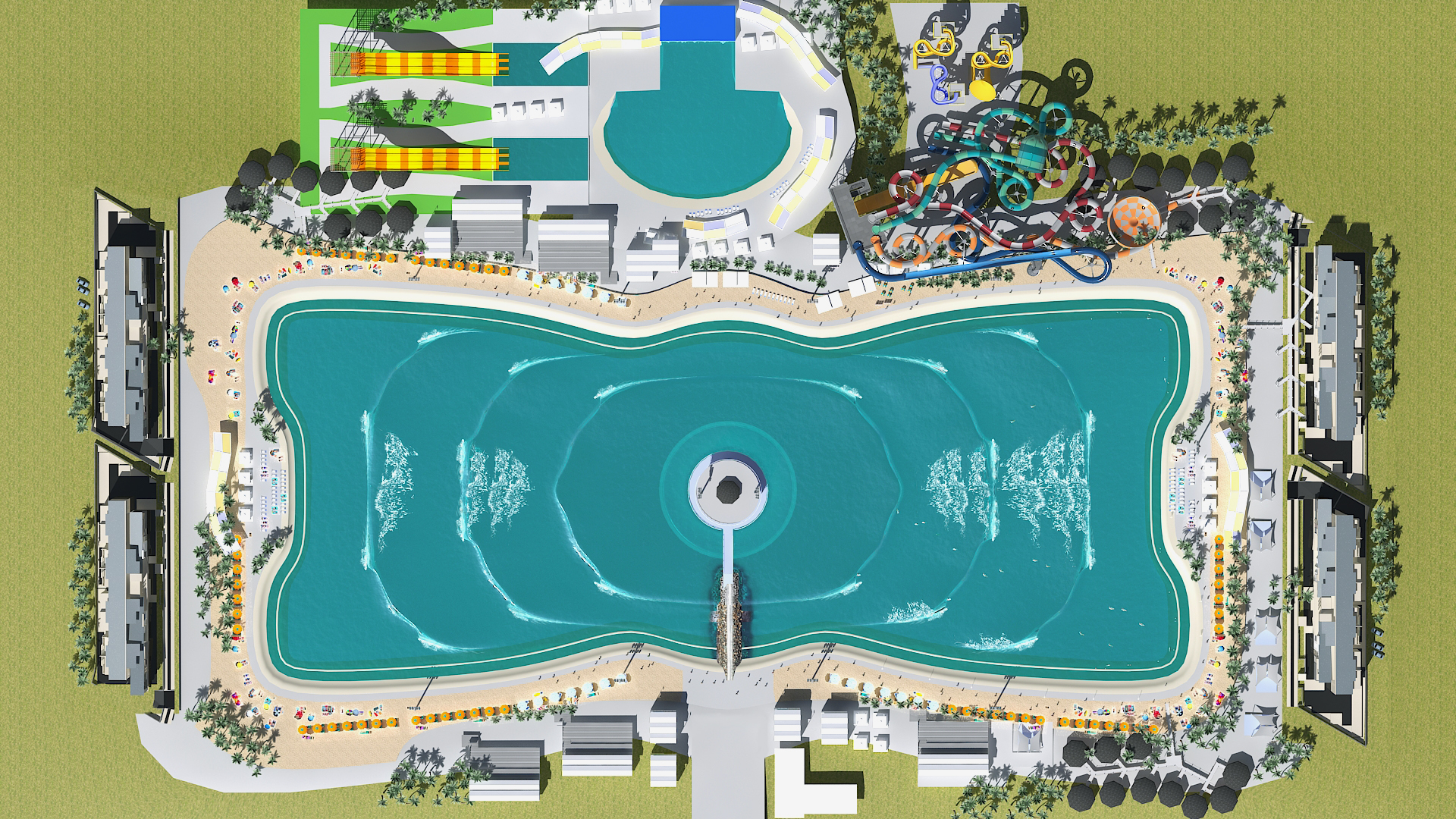 Artists rendition of Surf Lakes hub technology