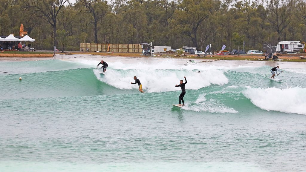 several riders at surf lakes