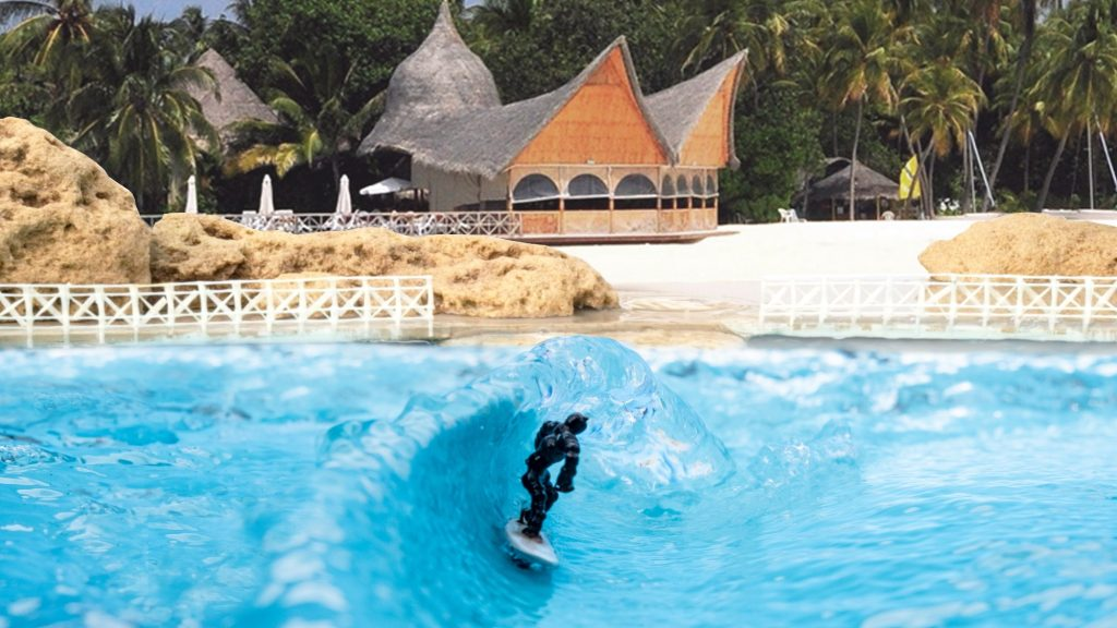 surf ring scale wave pool model