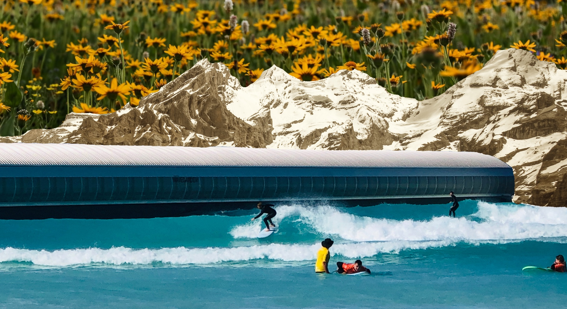 editorial art for switzerland wave pool