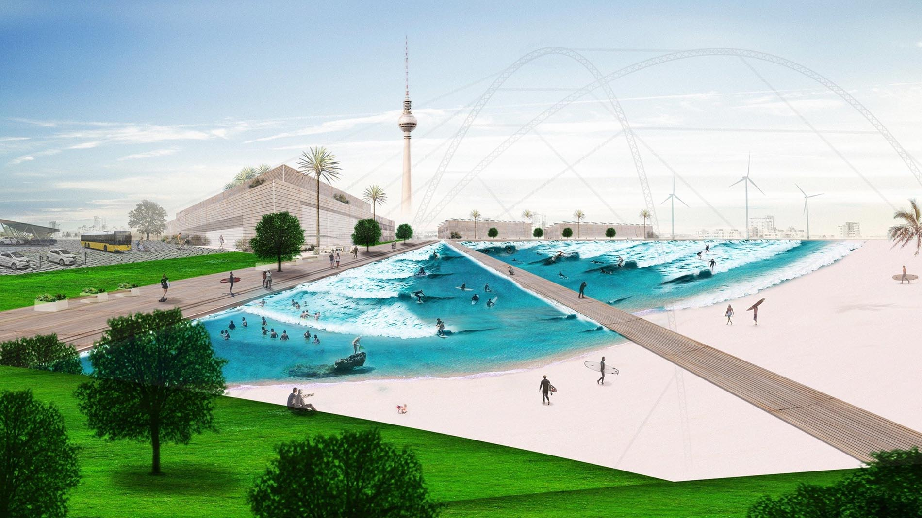 The Berlin wave pool artist sketch