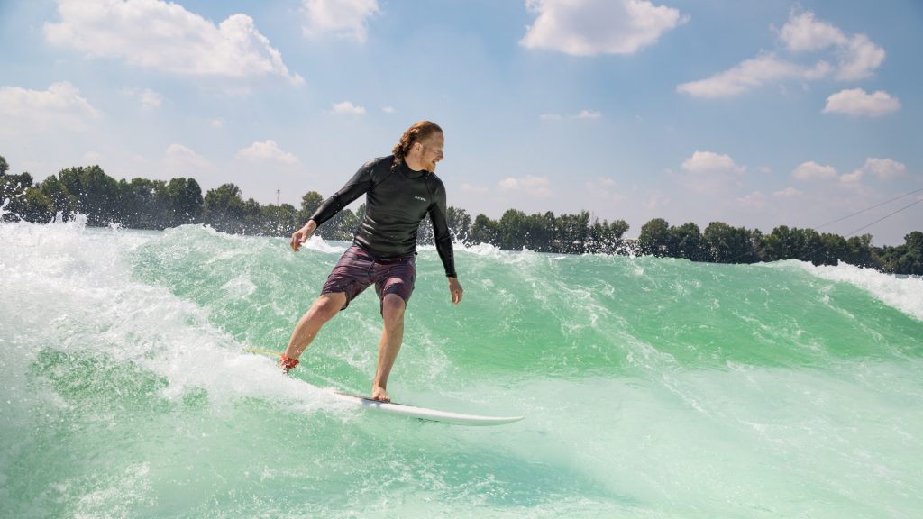 unit wave pool being surfed