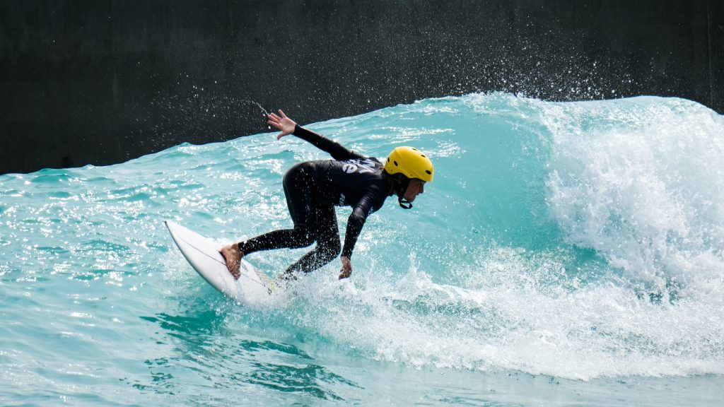 child surfer at The Wave in Bristol