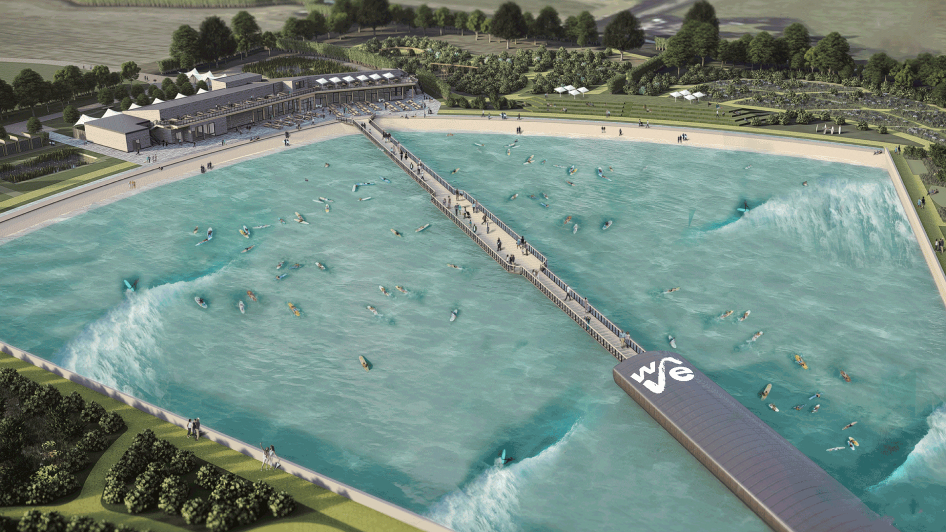 london wave pool plan
