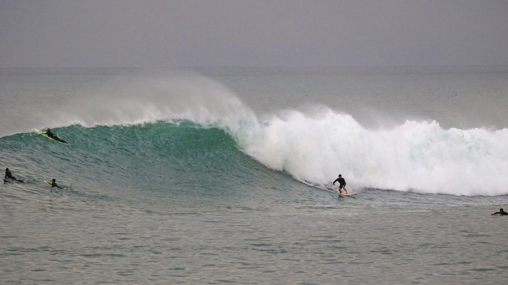Baptiste Caulonque surfing in the Basque Country