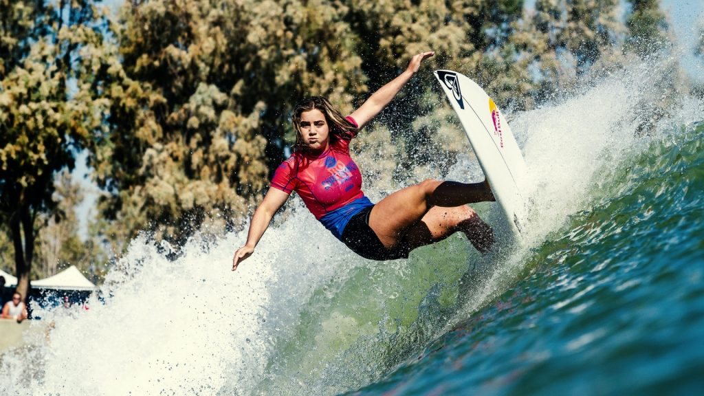 Caroline Marks at the surf ranch