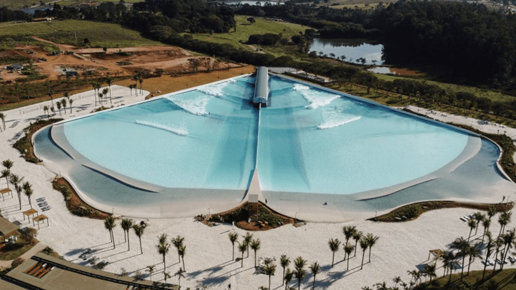 drone look at the new praia do grama