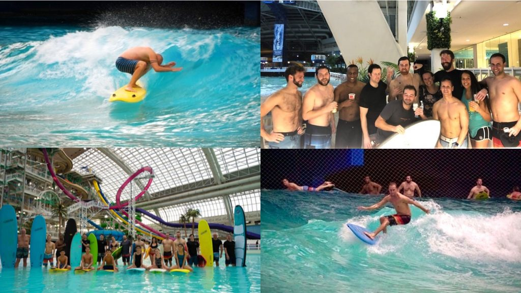 wave pool collage