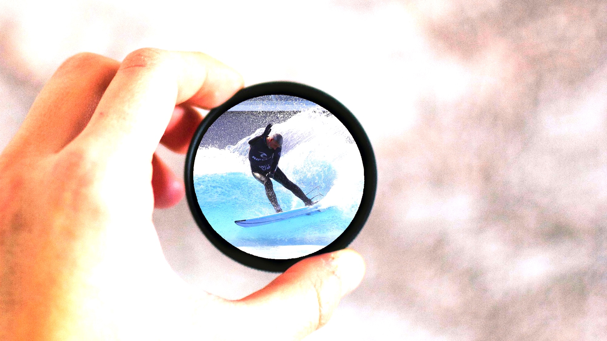 focus with surfer