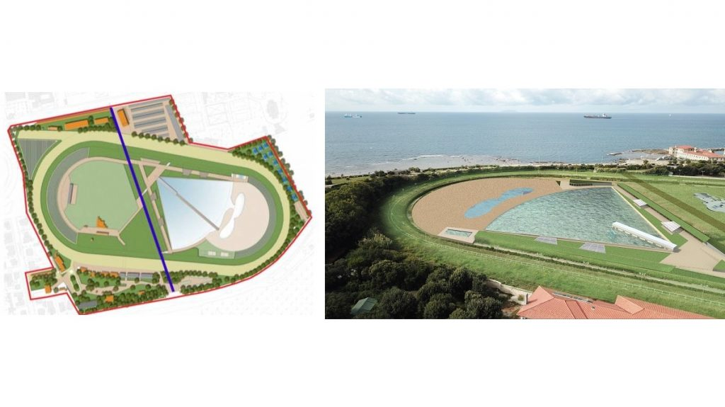 Two designs for the Livorno wave pool