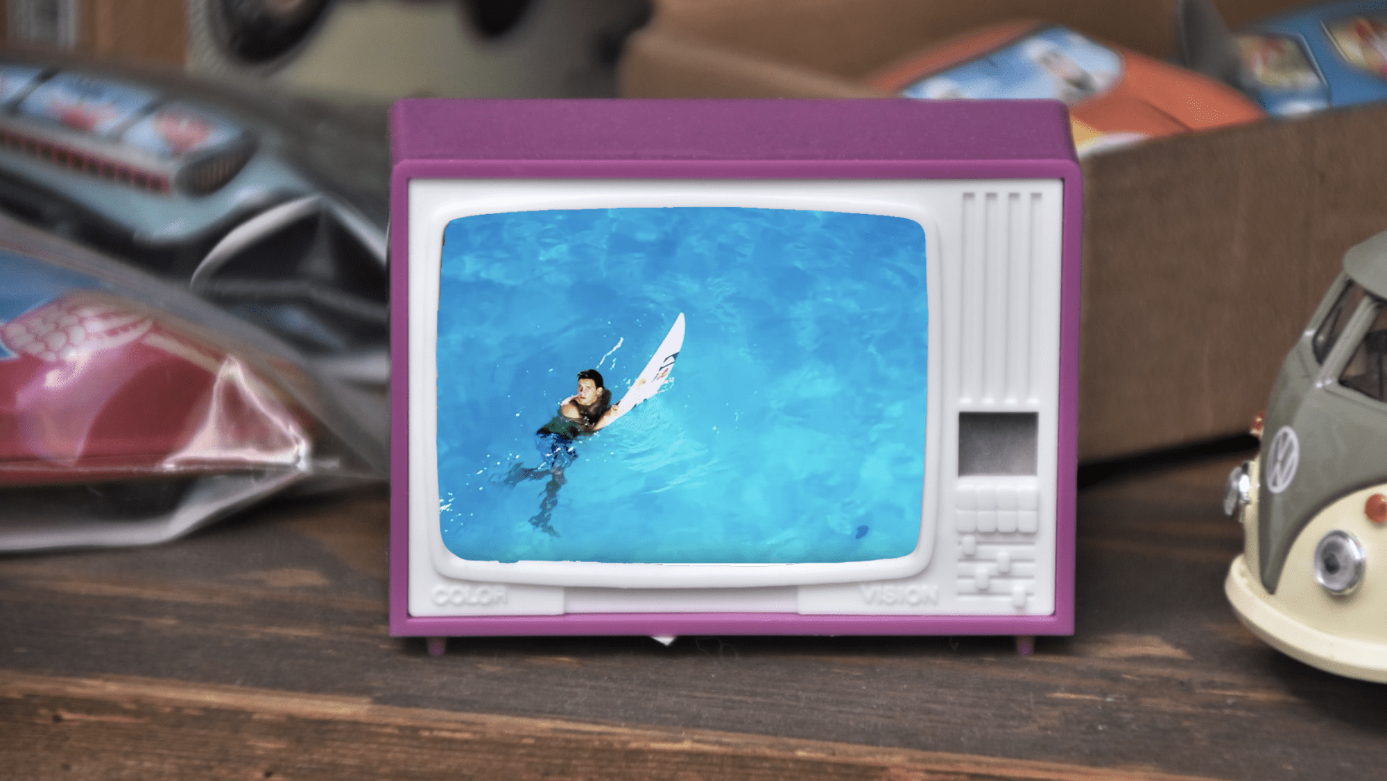 wave pool television