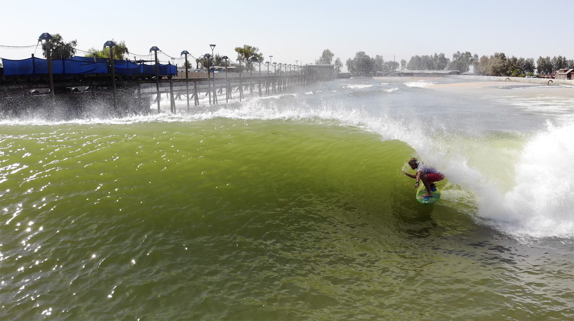Lucas Fink at the Surf Ranch
