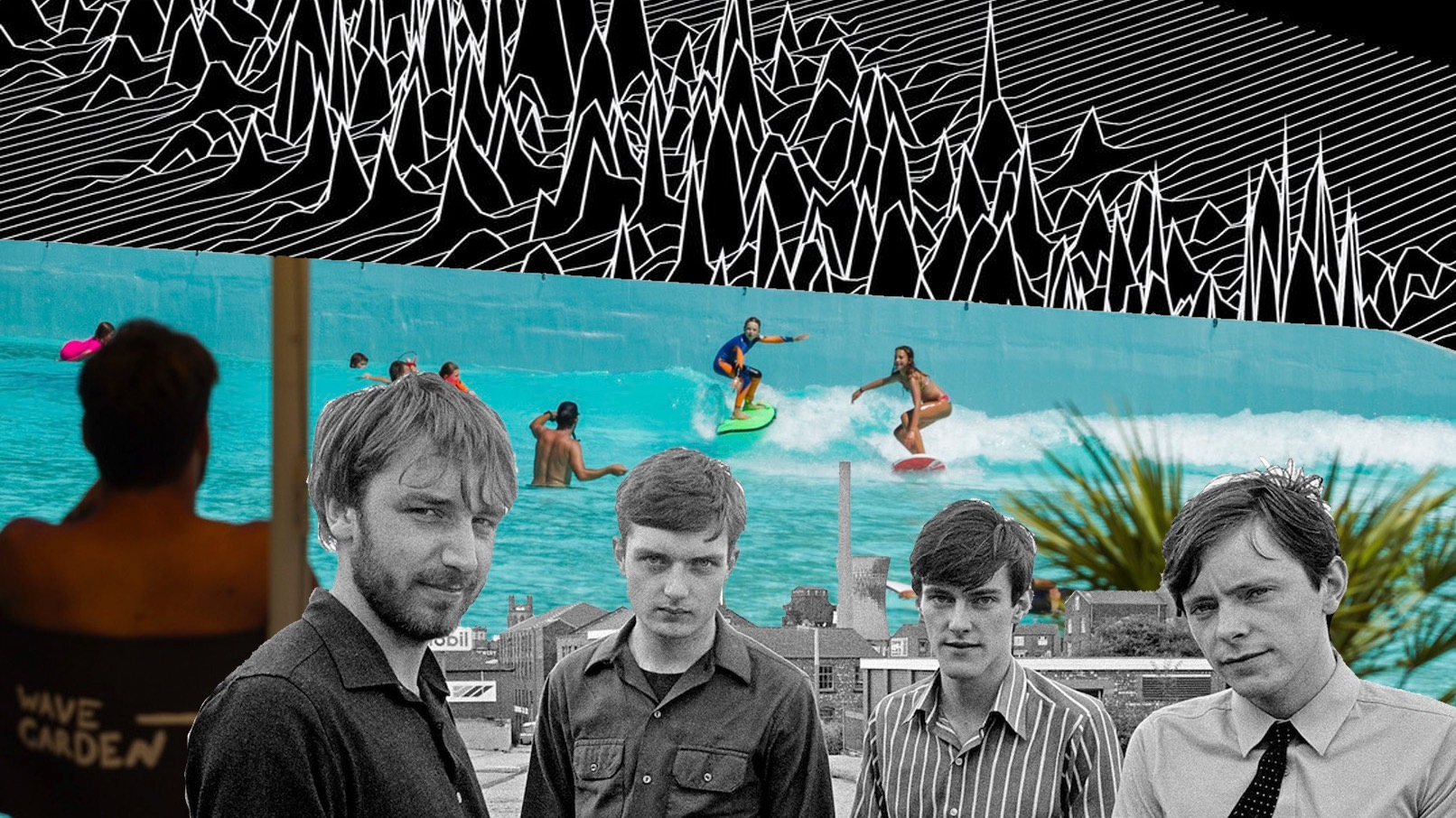 Artist mashup of Joy Division and Wavegarden Cove